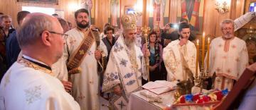 """Slujire arhierească şi binecuvântarea lucrărilor realizate la capela """"Sf. Pantelimon"""" din Galaţi"""