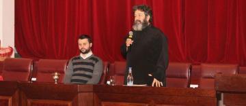 Părintele Ciprian Negreanu a conferențiat la Galați