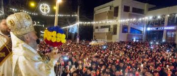 Slujba Învierii Mântuitorului Iisus Hristos la Catedrala Arhiepiscopală din Galaţi