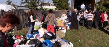 Acţiune filantropică desfăşurată în Insula Mare a Brăilei