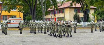 Depunerea jurământului militar de către soldaţii din Garnizoana Galaţi